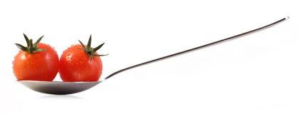 Czerwoni czereśniowi pomidory Zdjęcia Stock