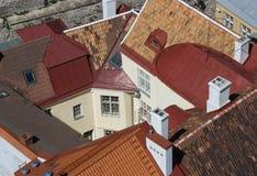 czerwoni dachy Fotografia Royalty Free
