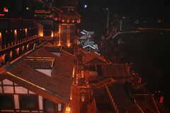 czerwoni dachy Chongqing miasto w Chiny Zdjęcia Royalty Free