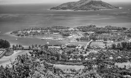 Czerwoni dachy Eden wyspa, widok z lotu ptaka Seychelles Obrazy Royalty Free