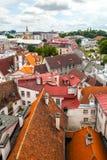 Czerwoni dachy stary grodzki Tallinn, Estonia Obrazy Royalty Free