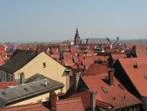 Czerwoni dachy w Niemcy Fotografia Stock