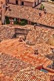 Czerwoni dachy wioska w Provence, Francja Fotografia Stock