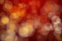 Czerwoni Defocused światła Zdjęcie Stock
