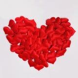Czerwoni dekoracyjni serca w formie dużego serca Zdjęcie Stock