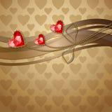 Czerwoni diamentowi serca Obrazy Stock
