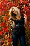 czerwoni drzewa zdjęcia royalty free