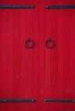 Czerwoni drzwi Obrazy Stock