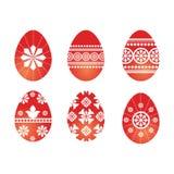 czerwoni Easter jajka Obrazy Stock