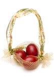 czerwoni Easter jajka Fotografia Royalty Free