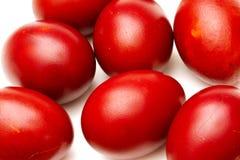 czerwoni Easter jajka Zdjęcia Stock