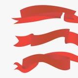 Czerwoni faborki horyzontalni ilustracji