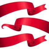 Czerwoni faborki ustawiający Zdjęcia Stock