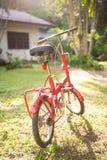 Czerwoni falcowanie bicykle w parku obrazy royalty free