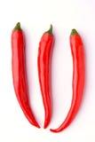 czerwoni gorący chili pieprze Zdjęcie Royalty Free