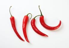 czerwoni gorący pieprze Zdjęcia Stock