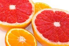 czerwoni grapefruits mandarines Fotografia Stock