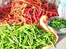 Czerwoni hoy chili pieprze Obrazy Stock