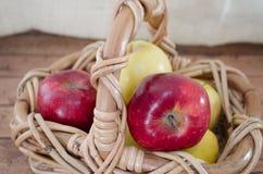 Czerwoni i żółci jabłka Obrazy Stock