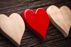 Czerwoni i brown serca zdjęcie royalty free