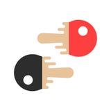 Czerwoni i czarni tenisowi kanty ilustracja wektor