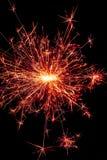 Czerwoni i złociści sparklers fotografia stock