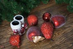 czerwoni jabłczani boże narodzenia Fotografia Royalty Free