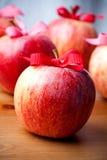czerwoni jabłek boże narodzenia Zdjęcia Royalty Free