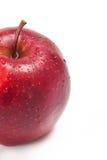 Czerwoni jabłka na bielu obrazy stock