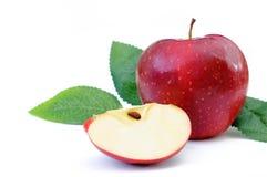 Czerwoni jabłka na bielu Obraz Stock