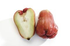 Czerwoni Java jabłka zakończenia, (Syzygium samarangense lub Eugenia javanica) Obrazy Stock