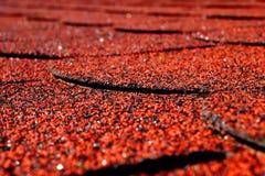 Czerwoni kanadyjczyka łupku gonty Fotografia Stock
