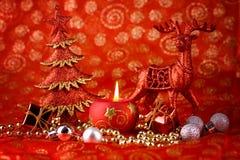 czerwoni karciani boże narodzenia Obraz Stock