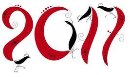 Czerwoni kogutów nowy rok Zdjęcia Royalty Free