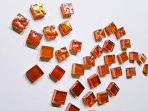Czerwoni kolorowi mozaika szczegóły robić szkło zdjęcia royalty free