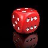 Czerwoni kostka do gry Zdjęcie Stock