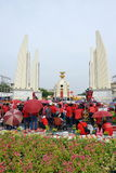 Czerwony koszula wiec w Bangkok Zdjęcie Royalty Free