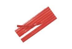 Czerwoni krawaty Obrazy Royalty Free
