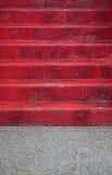 czerwoni kroki Fotografia Royalty Free