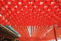 Czerwoni lampiony Obraz Royalty Free