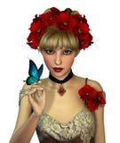 Czerwoni maczki, 3d CG ilustracja wektor