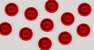 Czerwoni Martini szkła od above fotografia royalty free
