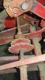Czerwoni metali Cogs Zdjęcia Stock