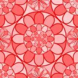 Czerwoni mozaika kwiaty royalty ilustracja