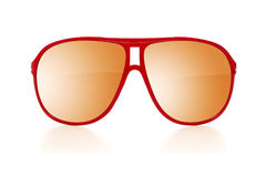 Czerwoni okulary przeciwsłoneczni Zdjęcia Royalty Free