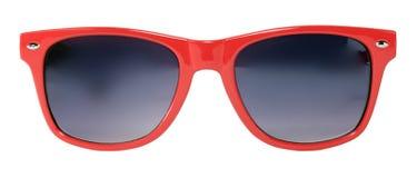czerwoni okulary przeciwsłoneczne Zdjęcia Royalty Free