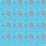 Czerwoni płatki śniegu na błękitnym tle Płatka śniegu wektoru wzór ilustracji
