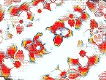 Czerwoni płatki w wczesnej zimy burzy Fotografia Royalty Free