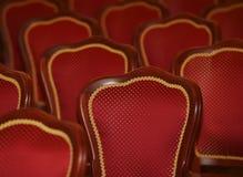 Czerwoni piękni krzesła Moskwa 2014 fotografia stock