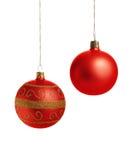 czerwoni piłek boże narodzenia Zdjęcie Royalty Free